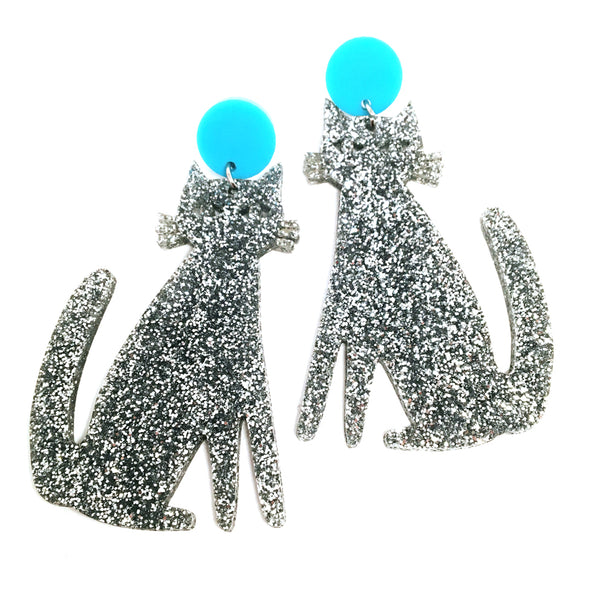 Spooky Cats · Silver + Turquoise