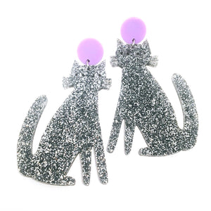Spooky Cats · Silver + Lilac