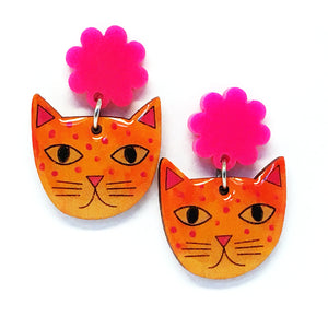 Rainbow Cat · Marigold + Hot Pink