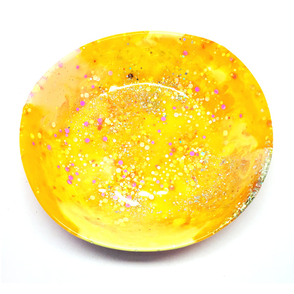 Resin Bowl · Large Organic · Yellow