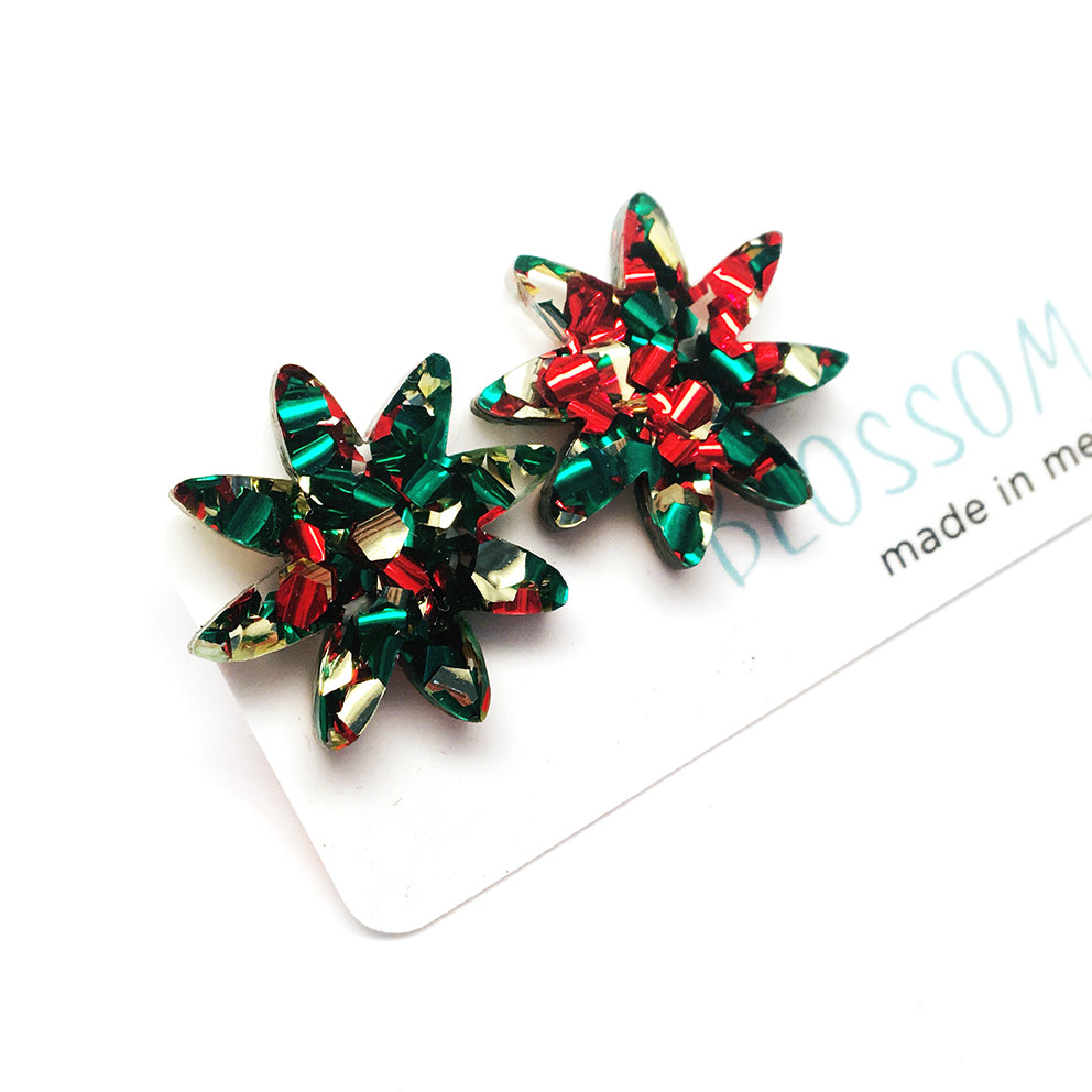Festive Star · Fancy Red Gold Green