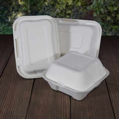 Hinged Bagasse Meal Boxes