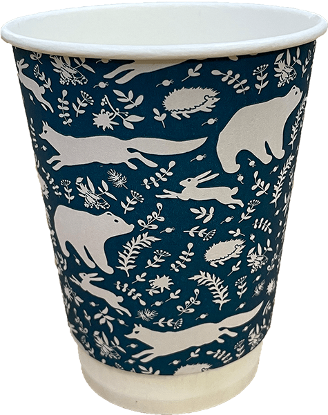 Winter Series - Plastic Free - Double Wall Cups - Recyclable & Compostable - NaturePac