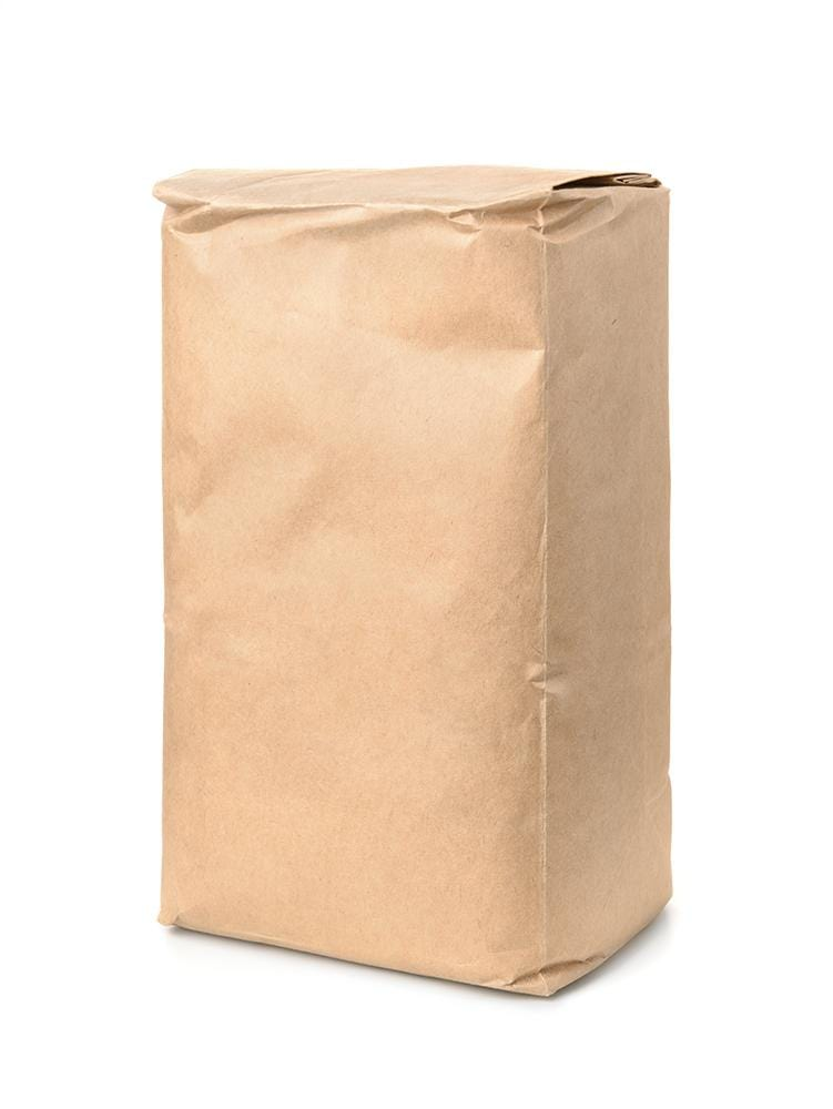 Block Bottom Brown Paper Bags for Flour - Recyclable & Compostable