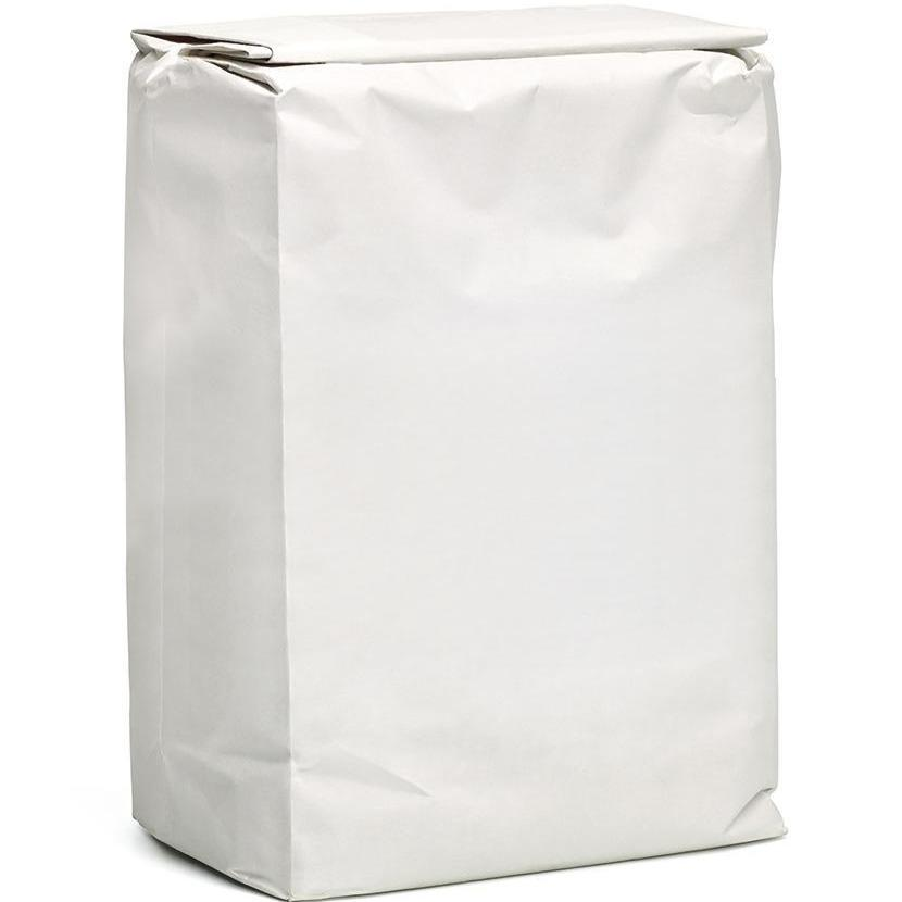 Block Bottom White Paper Bags for Flour - Recyclable & Compostable