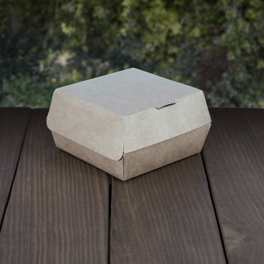 Burger Boxes - Brown Kraft Board - Recyclable & Compostable
