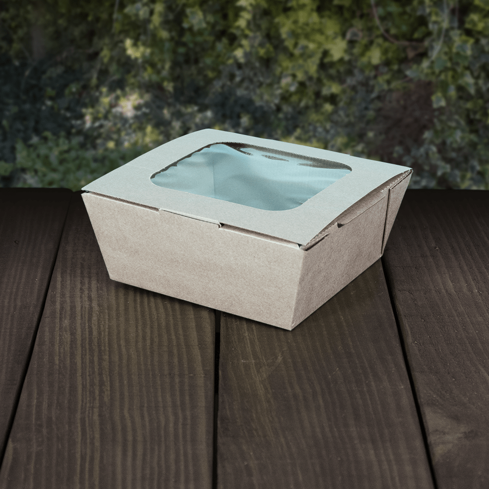 Compostable Fluted Meal Box with Window