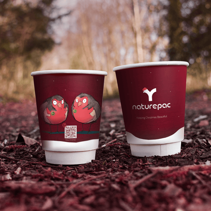 Festive Compostable Double Wall Cups
