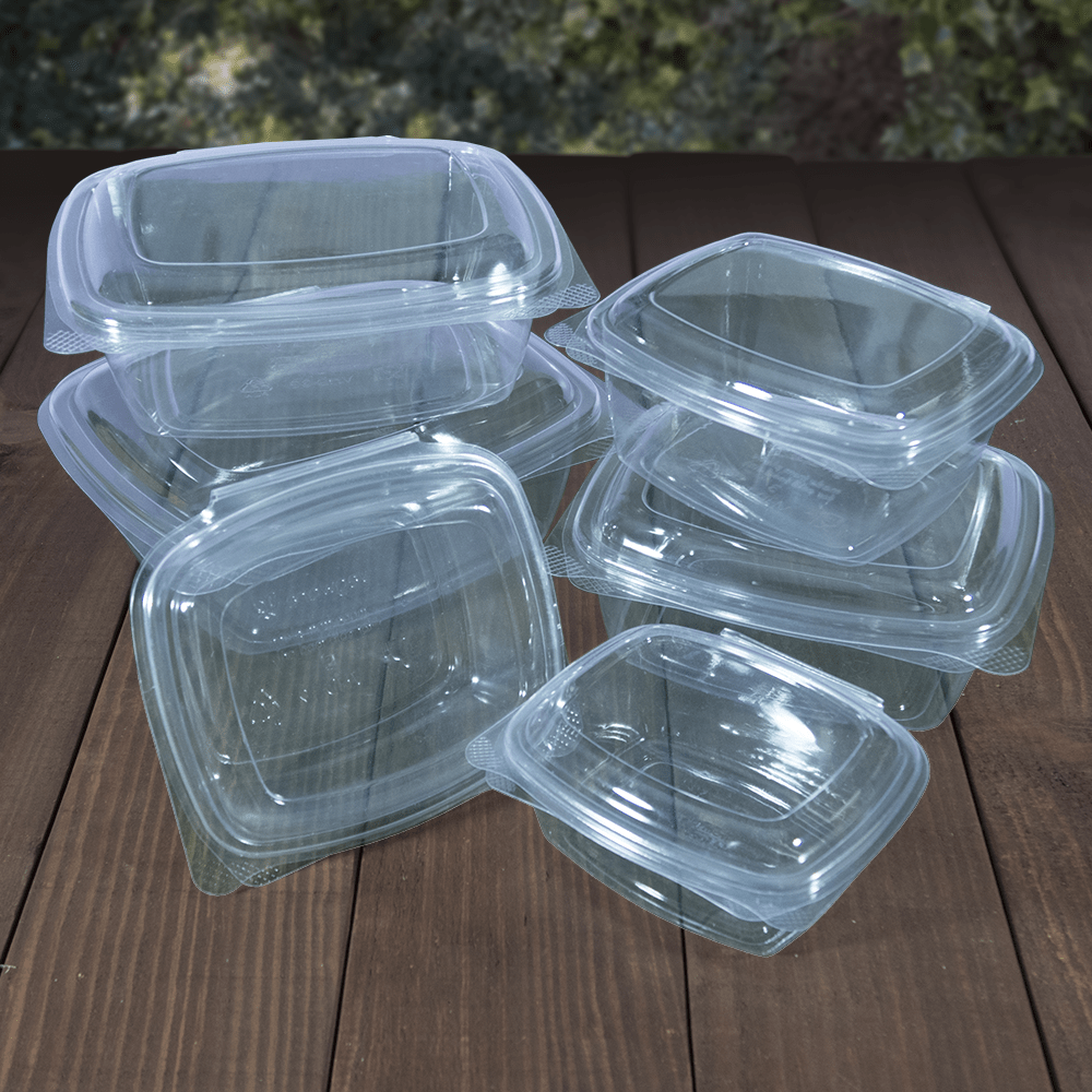 Salad Boxes - Clear PLA - Compostable - NaturePac
