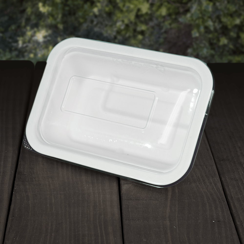 Clear PLA Lids for Bagasse Trays - Compostable