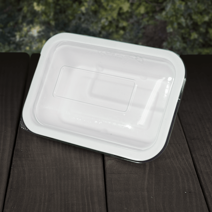 Clear PLA Lids for Bagasse Trays - Compostable - NaturePac