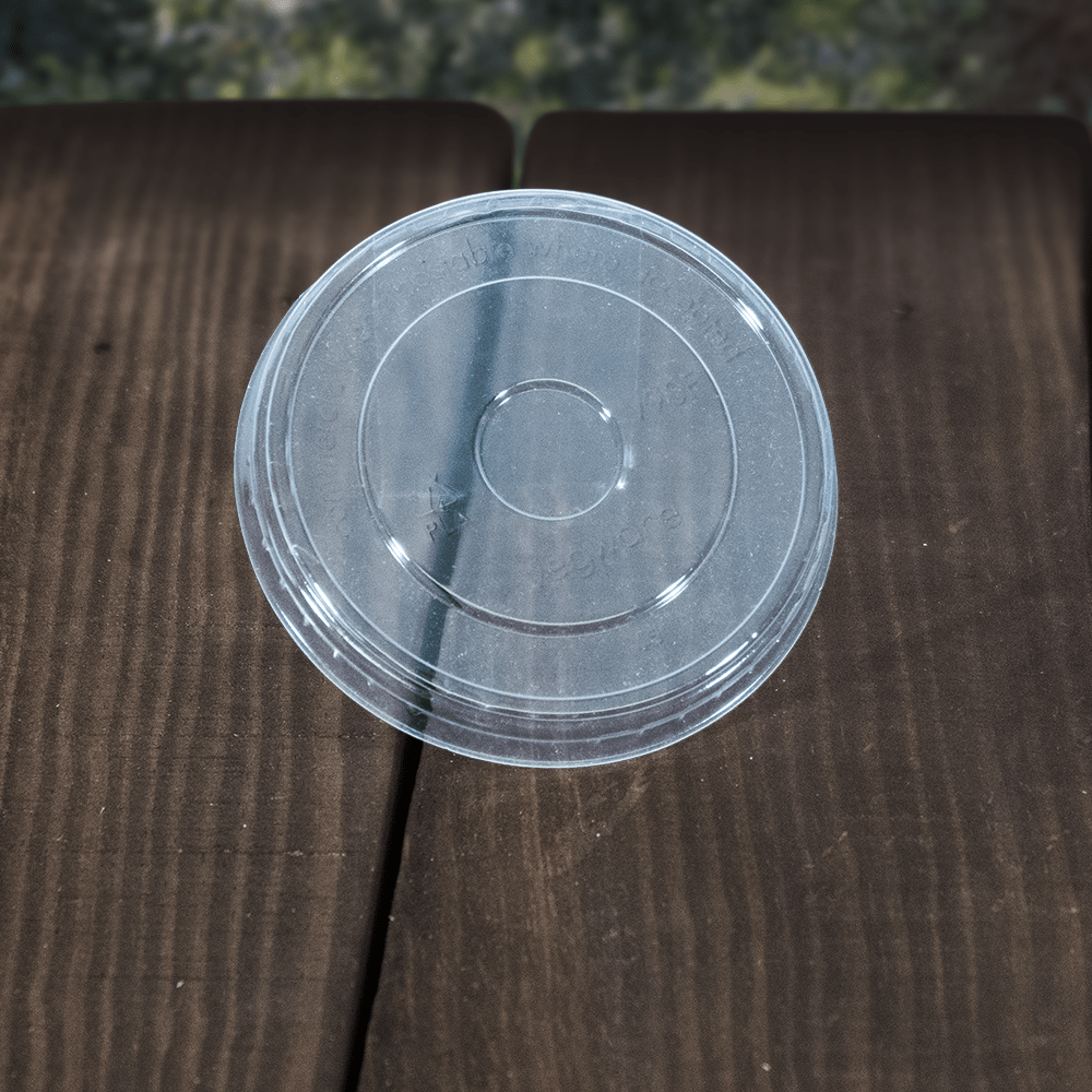 Portion Pot Lids - Clear - Compostable