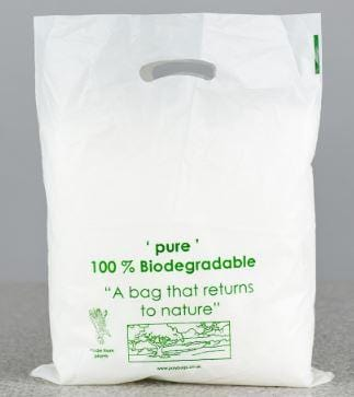 Compostable Punched Out Handle Carrier Bag