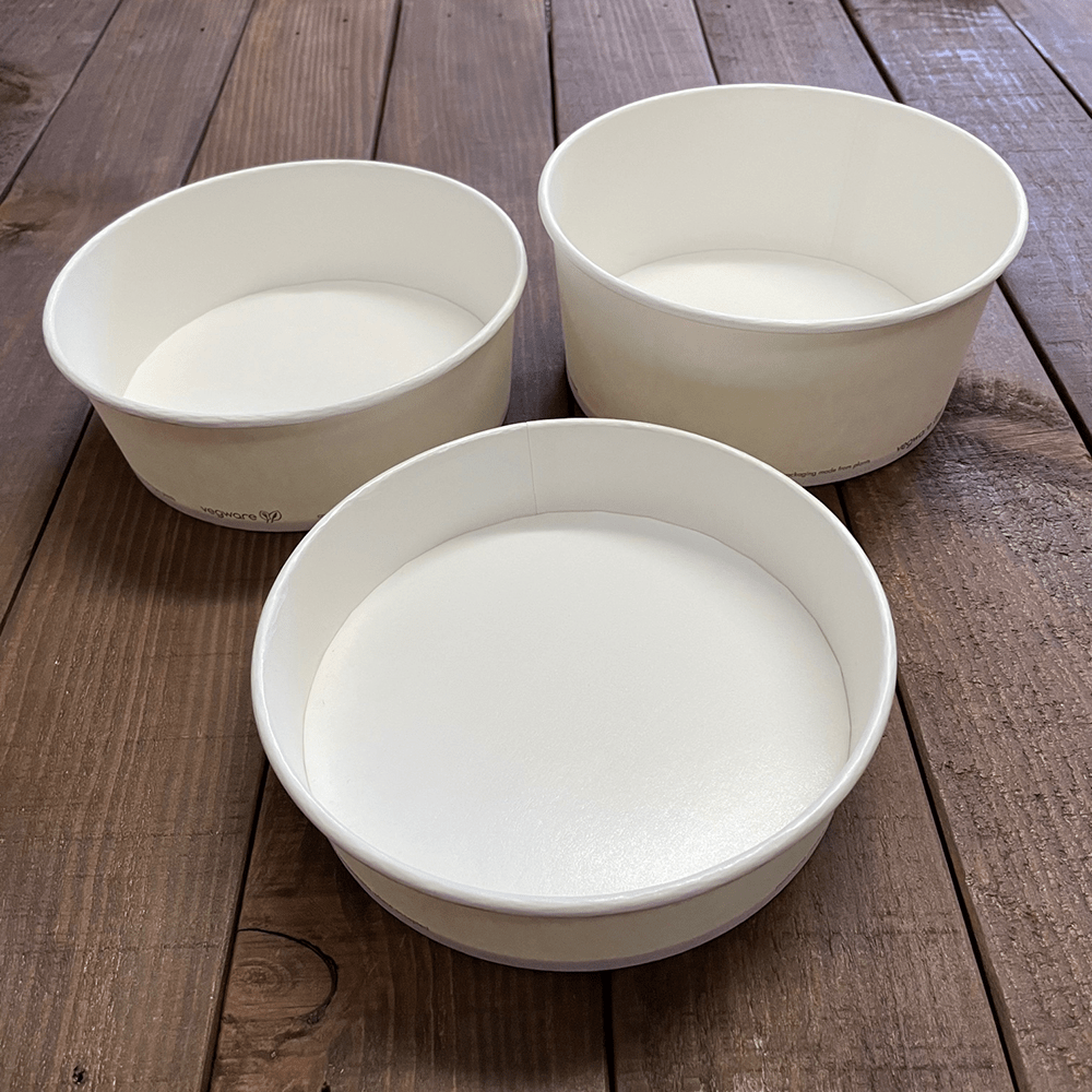 Wide Format Food Bowls - Compostable - Naturepac