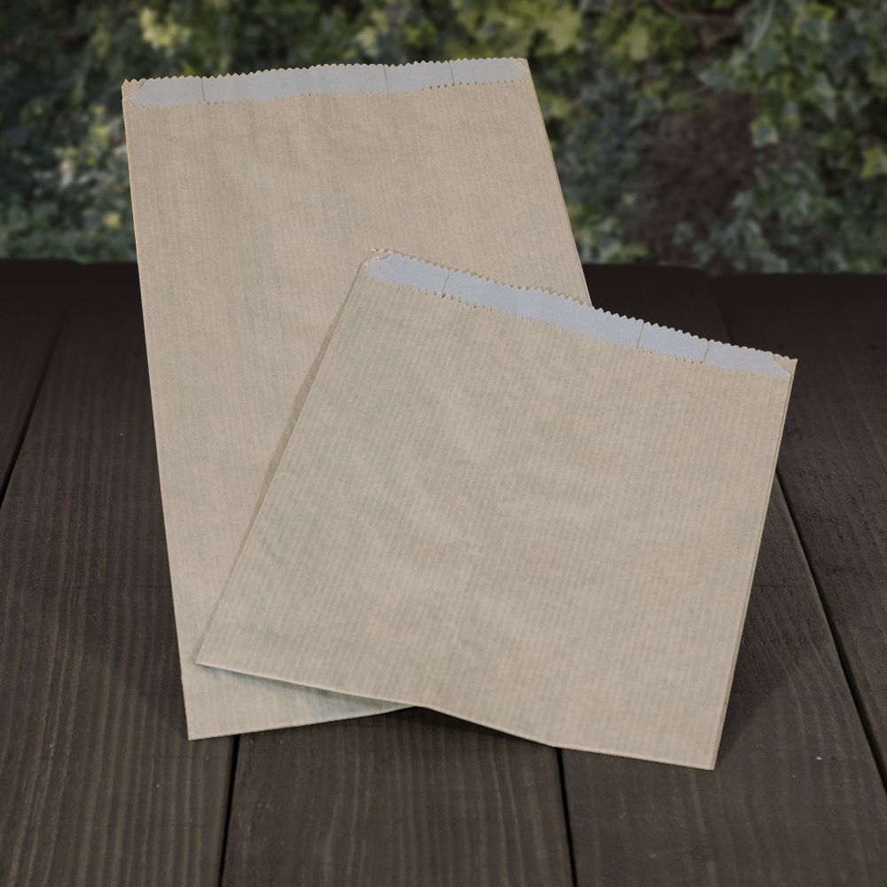 Greaseproof Paper Bags - Brown 2ply - Recyclable & Compostable - Evolution Packaging Products