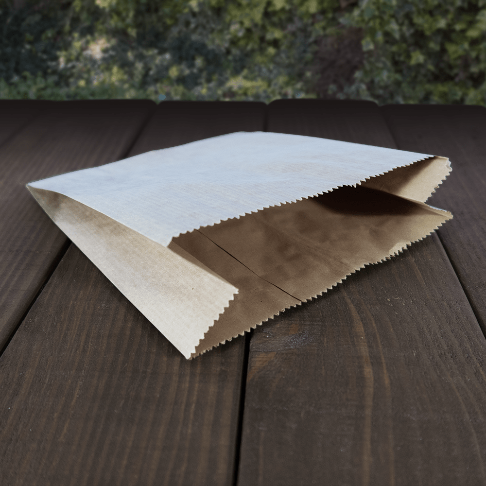 Greaseproof Paper Bags - Brown 2ply - Recyclable & Compostable - NaturePac