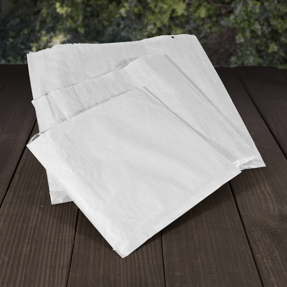 Greaseproof Paper Bags - 1ply - Recyclable & Compostable - Evolution Packaging Products