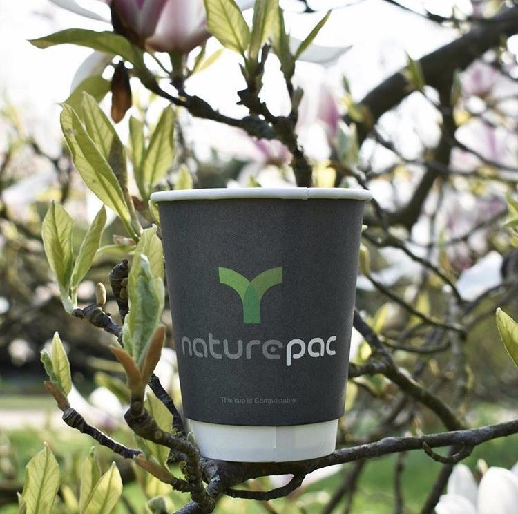 Grey NaturePac Compostable Double Wall Cups