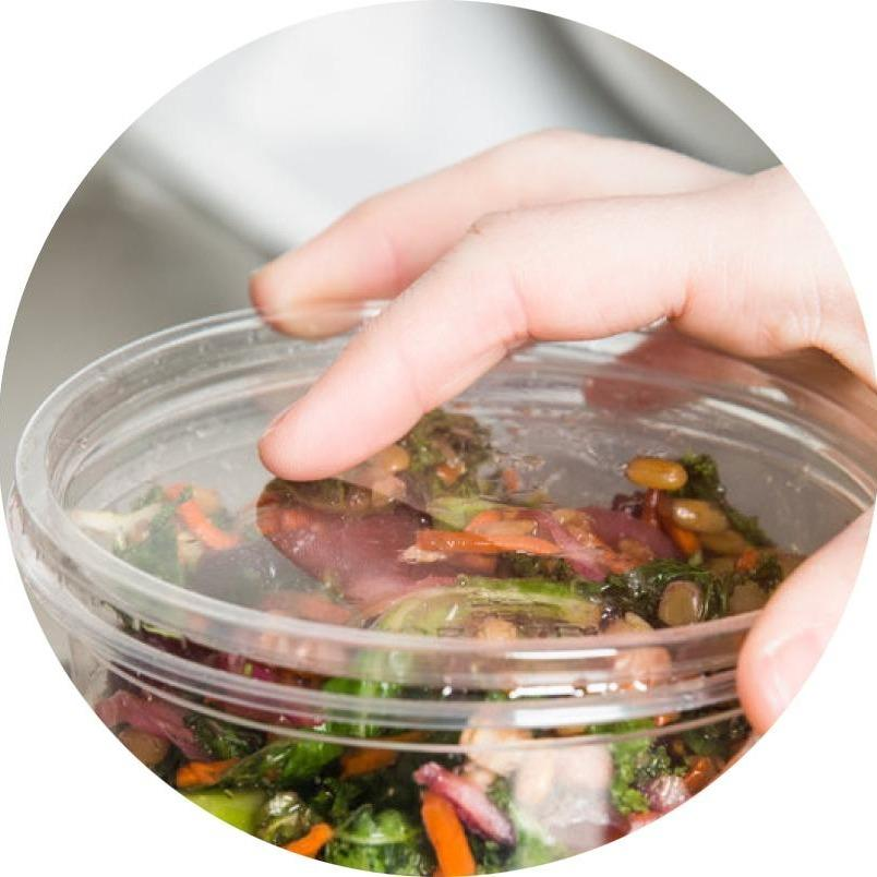 Deli Pot Lids - Clear - Compostable