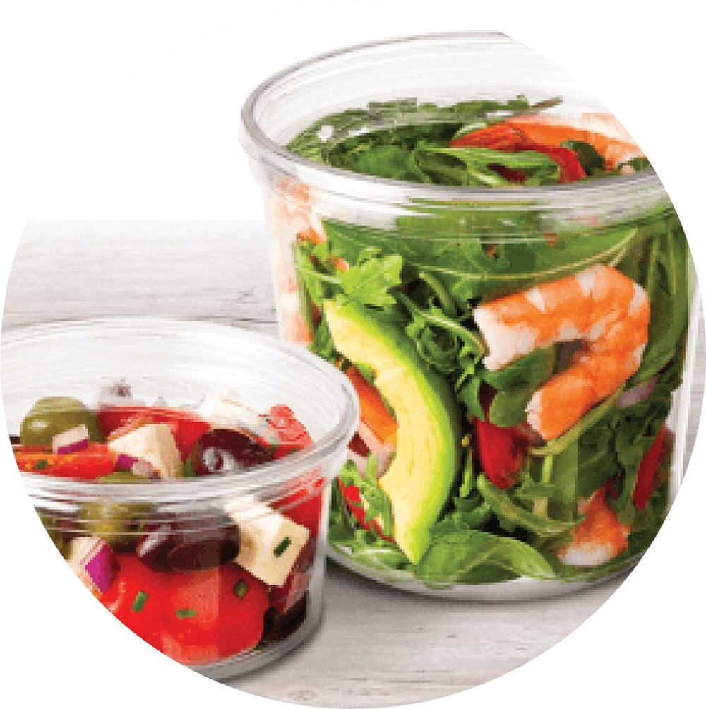 Deli Pots - Clear - Compostable - Evolution Packaging Products