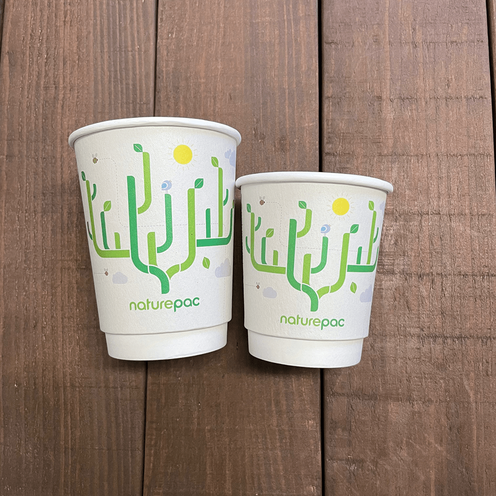 NaturePac Limited Edition Fully Recyclable Double Wall Cups - Naturepac
