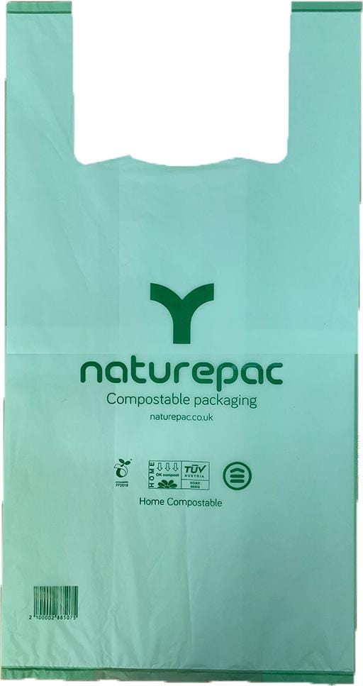 Vest Carrier Bags - Home Compostable - NaturePac