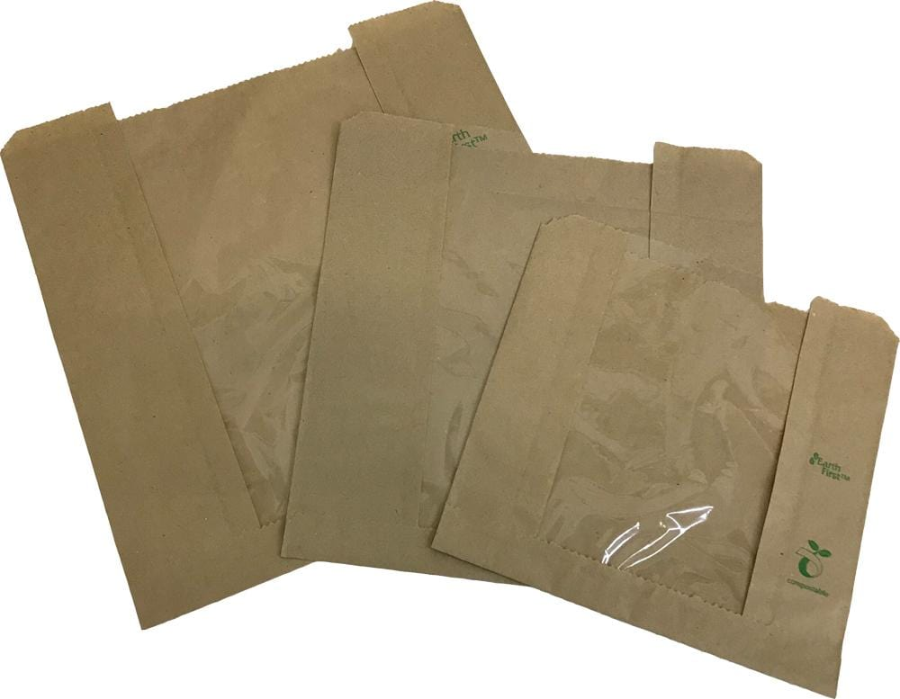 Compostable Windowed Paper Bag