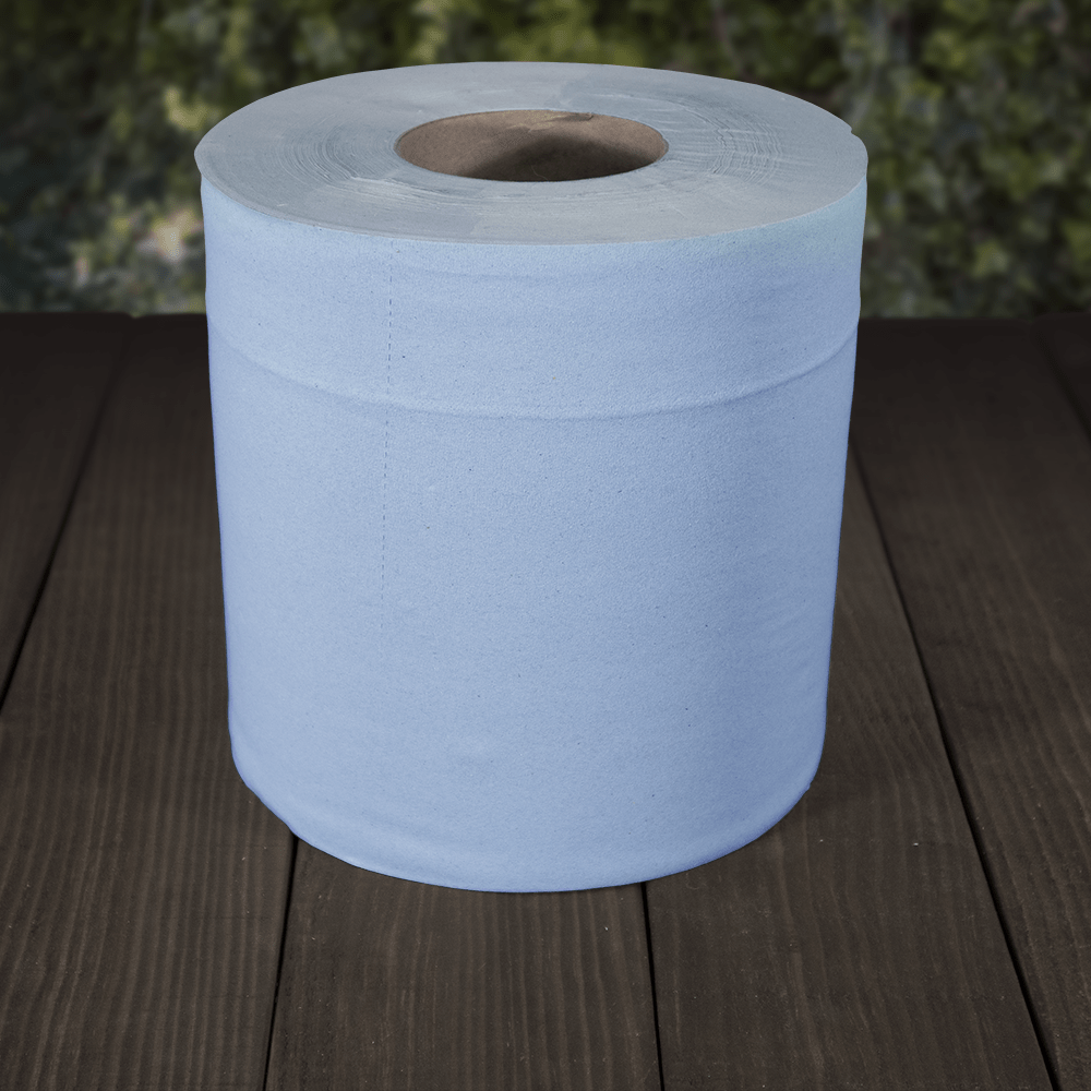 Recycled 2ply Blue Paper Centrefeed Rolls