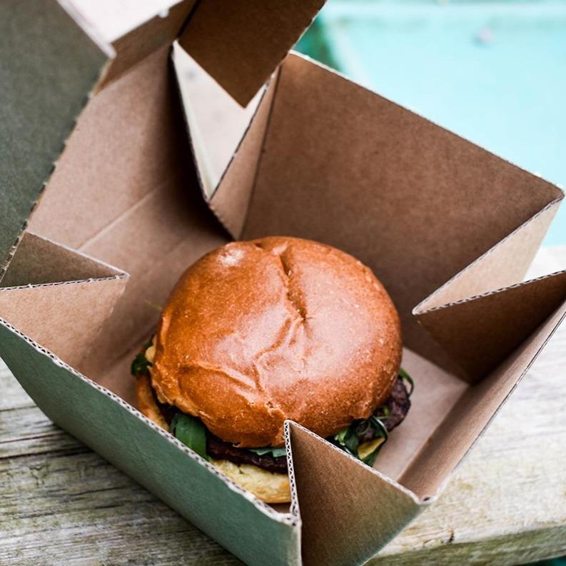 Premium Kraft Burger Box - Compostable and Recyclable - NaturePac
