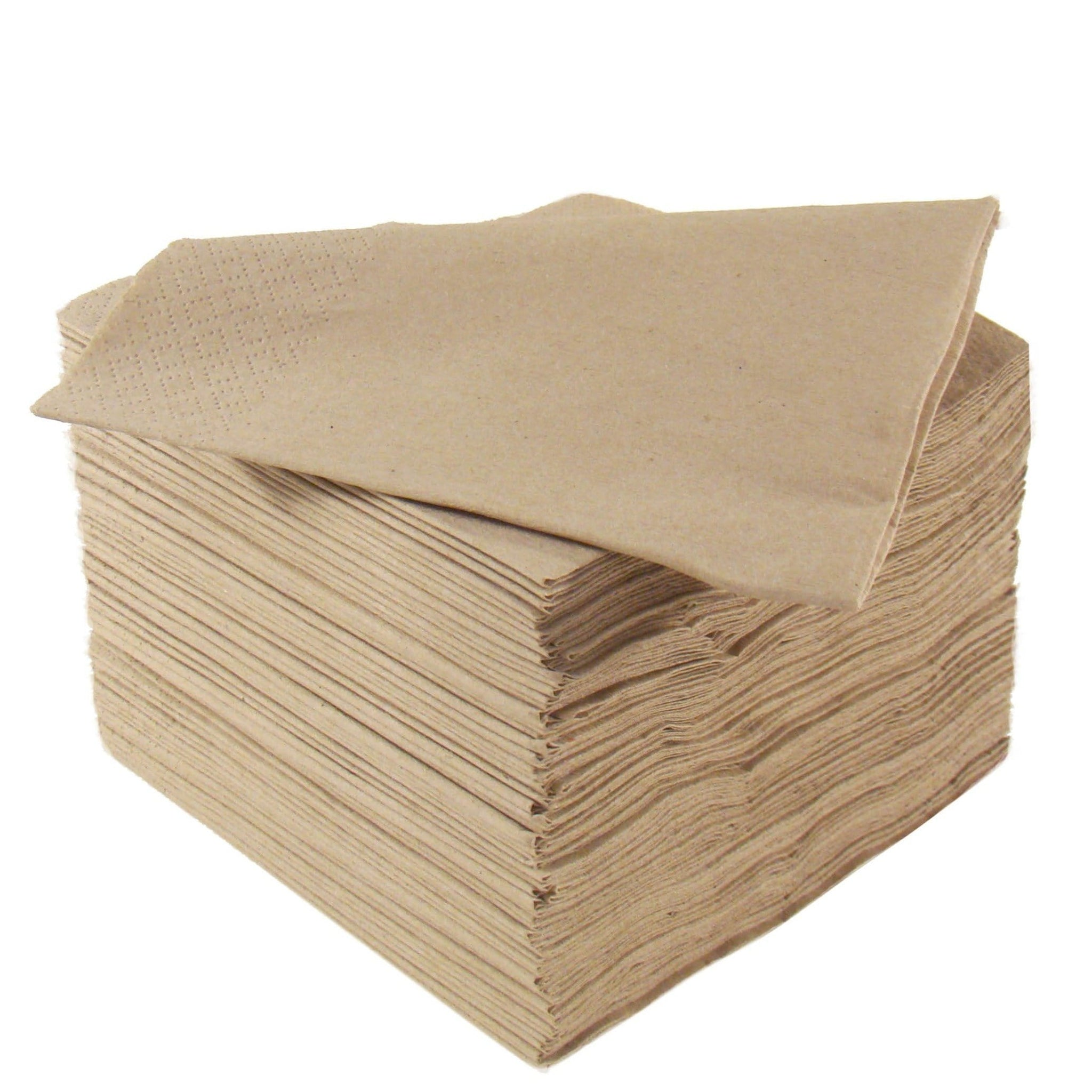Natural Napkins - Recycled - 2ply 33cm - Recyclable & Compostable - NaturePac