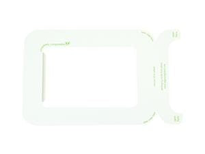 Windowed Lids for Bagasse Trays - Slide-On - Compostable - NaturePac