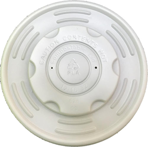 Compostable PLA Lids for White Deli / Soup Pots