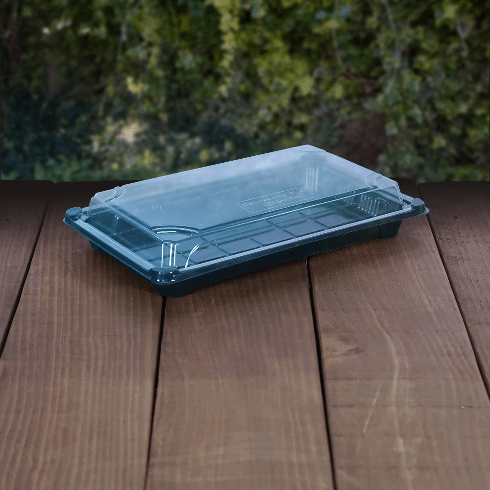 Sushi Combo Tray and Lid - Compostable - NaturePac