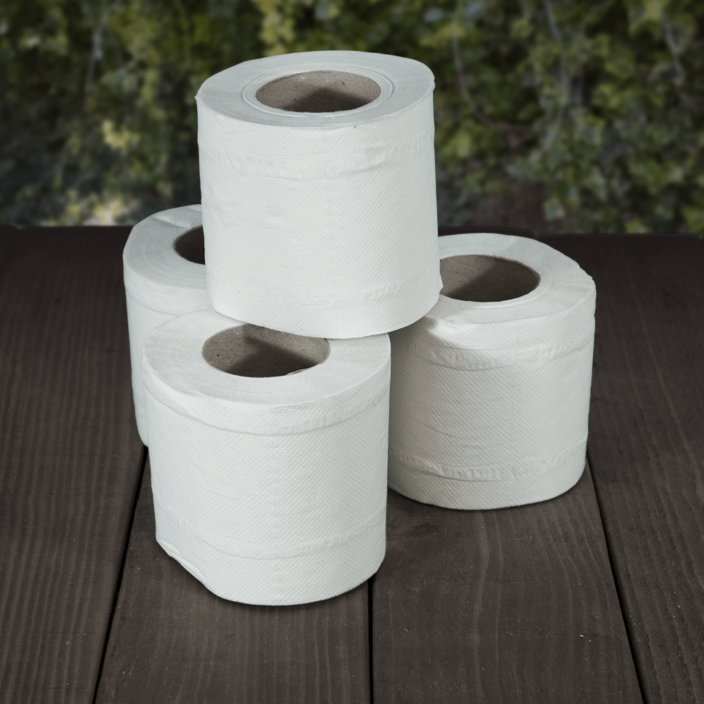 White Toilet Rolls - 2ply