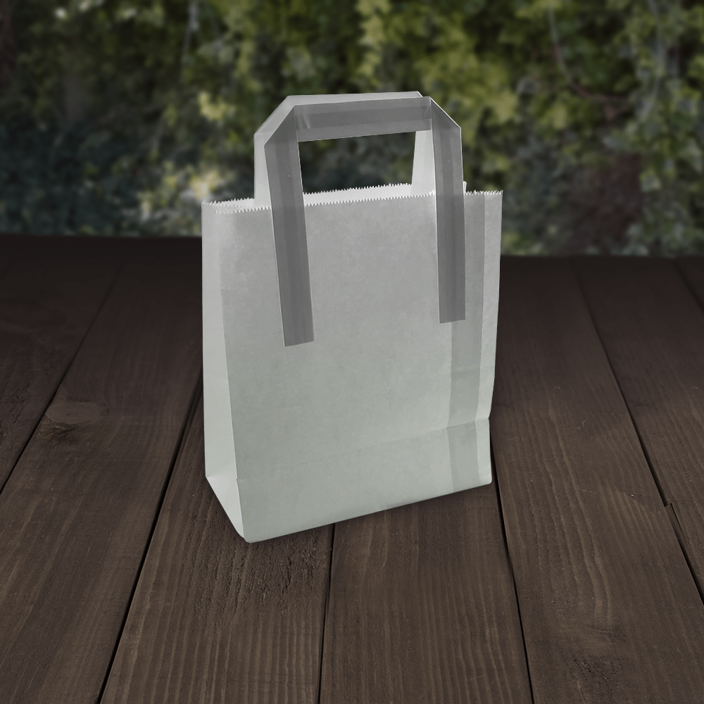 Carrier Bags - White Kraft Paper - Recyclable - NaturePac