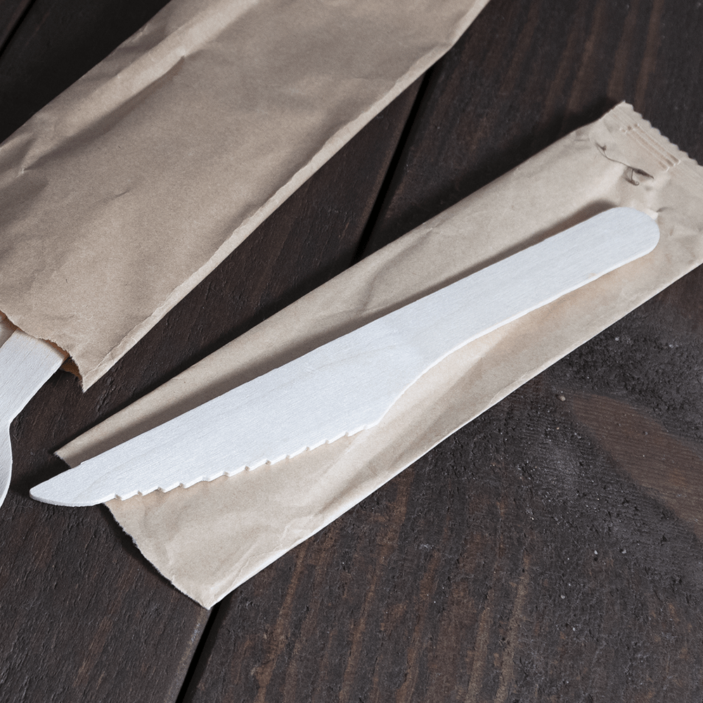 Paper Wrapped Wooden Cutlery - Compostable - Evolution Packaging Products