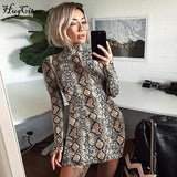 Hugcitar snake skin long & short sleeve dress