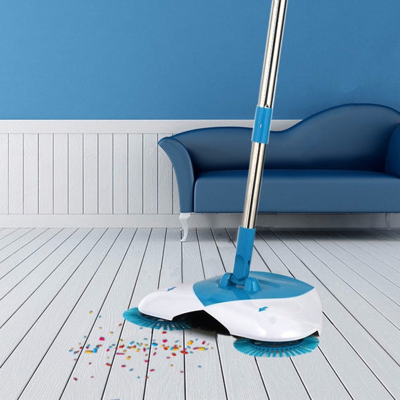 Hand Push Broom Sweeper Household Dust Collector Floor Cleaner