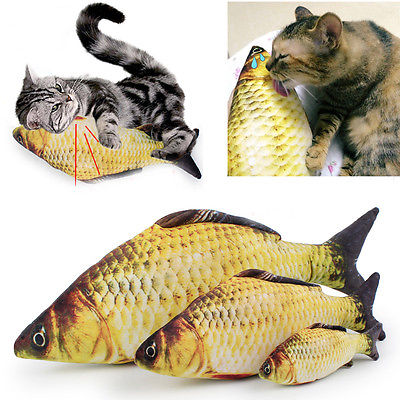 Artificial Grass Carp Kitten Fish Toy