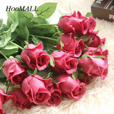 Valentine's Day PU Rose Valentine's Handmade Rose Flower Artificial Flowers