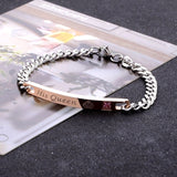 His Queen Her King Black Rose Gold Couple Bracelet