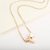 Gold Letter Necklace For Women