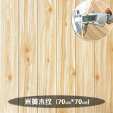 3D wood paper stereo wall skirt wallpaper
