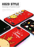 Christmas Soft Silicone Phone Case for iphone X 6 7 8 Plus