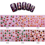 6pcs Art Christmas 3D French Beauty Nail Sticker
