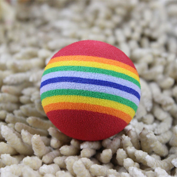 Pet Toy Baby Dog Cat Toys Rainbow Colorful Play Ball