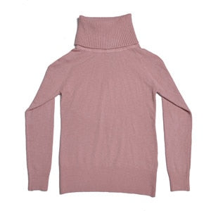 Autumn Winter Thick Turn-down Collar High Elasticity Casual Pullovers Female