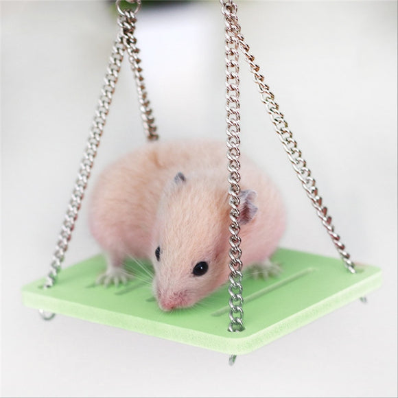 Swing Hanging Gadget Wooden Cage For Mouse