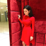 Women Long Sleeve Bodycon Party Dresses