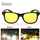 Lesov Men Night Vision Glasses  Cycling Driving Glasses
